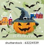 card for halloween... | Shutterstock .eps vector #63224539