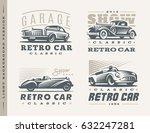 classic cars logo illustrations ... | Shutterstock . vector #632247281
