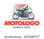 sport motorcycle logo... | Shutterstock . vector #632248757