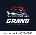 sport car logo on dark... | Shutterstock . vector #632248841