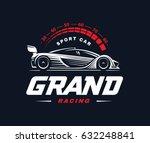 sport car logo on dark... | Shutterstock . vector #632248841