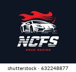 sport car logo illustration on...   Shutterstock . vector #632248877