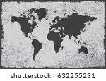 grunge map of the world.vintage ... | Shutterstock .eps vector #632255231