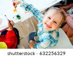 art lesson in kindergarten   Shutterstock . vector #632256329