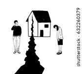 concept of divorce  crack in... | Shutterstock .eps vector #632260379