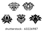 flower patterns isolated on... | Shutterstock . vector #63226987