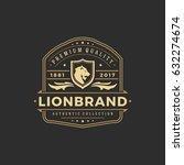 luxury logo template vector... | Shutterstock .eps vector #632274674