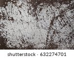 old cracked white leather... | Shutterstock . vector #632274701