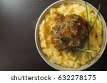corn meal with oxtail stew....   Shutterstock . vector #632278175