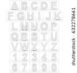 letters and numbers 3d white... | Shutterstock . vector #632278661