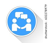 meeting button icon business... | Shutterstock . vector #632278979