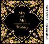 vintage invitation and wedding... | Shutterstock .eps vector #632281259