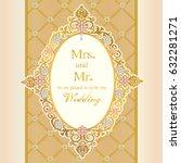 vintage invitation and wedding... | Shutterstock .eps vector #632281271
