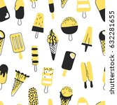 hand drawn seamless pattern... | Shutterstock .eps vector #632281655
