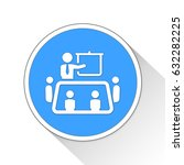 meeting button icon business... | Shutterstock . vector #632282225