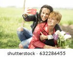 generations  mother and daughter | Shutterstock . vector #632286455