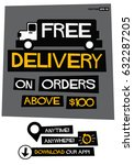 free delivery on orders above...