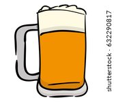 isolated beer glass with foam... | Shutterstock .eps vector #632290817