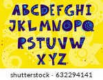 vector set of alphabet hand... | Shutterstock .eps vector #632294141