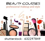 beauty courses poster design.... | Shutterstock .eps vector #632297849