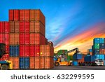 industrial container shipping... | Shutterstock . vector #632299595