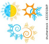 summer and winter icon | Shutterstock .eps vector #632301869