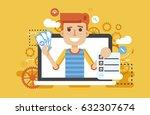 stock vector illustration man... | Shutterstock .eps vector #632307674