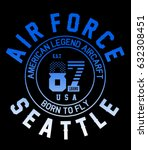 aircraft army seattle... | Shutterstock .eps vector #632308451