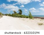 beach road in mahahual  mexico | Shutterstock . vector #632310194
