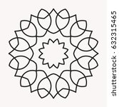 simple mandala shape for... | Shutterstock .eps vector #632315465