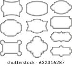 vector set vintage labels and... | Shutterstock .eps vector #632316287