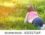 one year old baby crawling in... | Shutterstock . vector #632317169