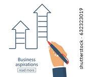business aspirations concept.... | Shutterstock .eps vector #632323019
