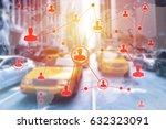 social networking technologies...   Shutterstock . vector #632323091