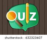 quiz related concept vector... | Shutterstock .eps vector #632323607