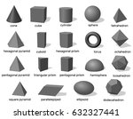 basic 3d geometric shapes.... | Shutterstock .eps vector #632327441