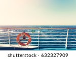 cruise ship upper deck with...   Shutterstock . vector #632327909