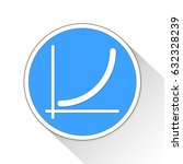 line chart button icon business ...