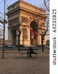 Arc De Triomphe On Sunset....