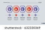 five hexagons diagram slide... | Shutterstock .eps vector #632330369