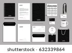 black corporate identity design ... | Shutterstock .eps vector #632339864