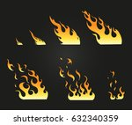 vector effect. effect for game. ... | Shutterstock .eps vector #632340359