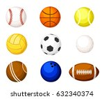 collection illustration sports... | Shutterstock .eps vector #632340374