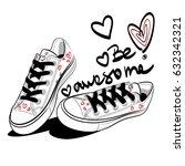 sneakers isolated vector. | Shutterstock .eps vector #632342321