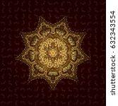 template gold mandala vector...   Shutterstock .eps vector #632343554