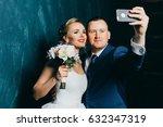 fanny wedding couple doing... | Shutterstock . vector #632347319