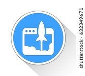 launch button icon business... | Shutterstock . vector #632349671