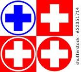 medical cross. set of medical... | Shutterstock .eps vector #632351714