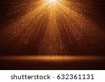 stage light and golden glitter... | Shutterstock . vector #632361131