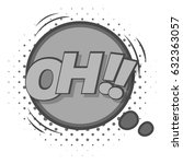 oh  comic speech bubble icon in ... | Shutterstock .eps vector #632363057